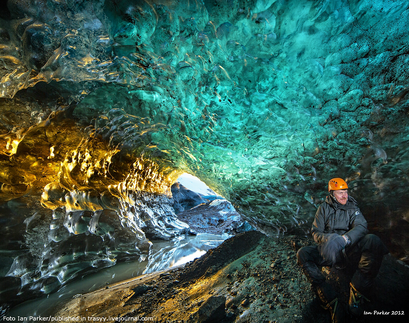 Ледяные пещеры ледника Ватнаёкюдль