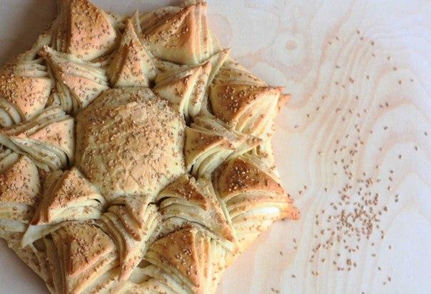 """Красивый и вкусный хлеб """"Подсолнух"""""""