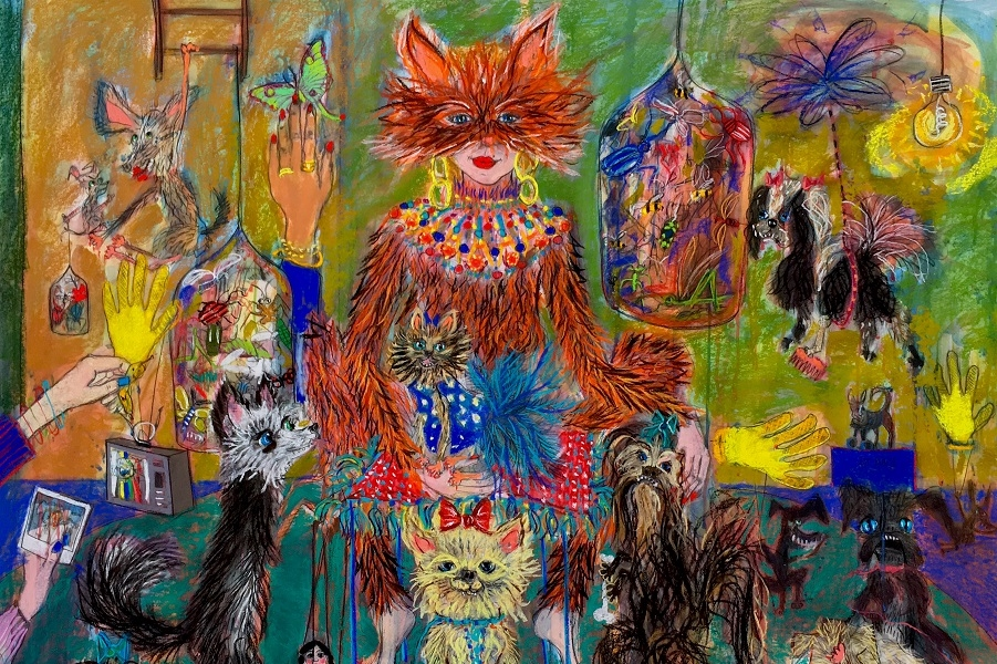 Stellas-Dog-Show-155-x-138-cm-Pastel-and-ink-on-paper-2018-.jpg