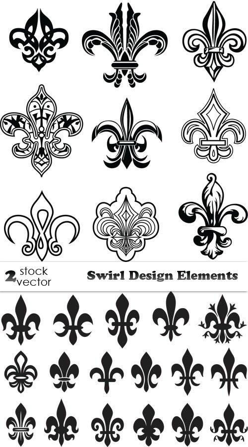 Черные элементы для дизайна - векторный клипарт