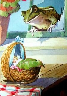 """""""Дюймовочка"""" сладко спит в своей кроватке из ореховой скорлупы"""