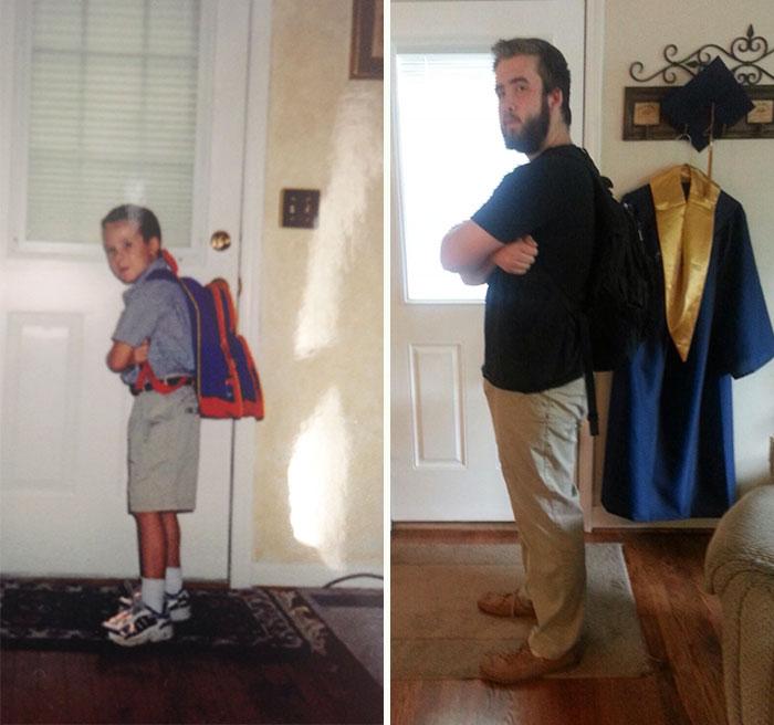 Сколько лет, сколько зим: дети в первый и последний день школы