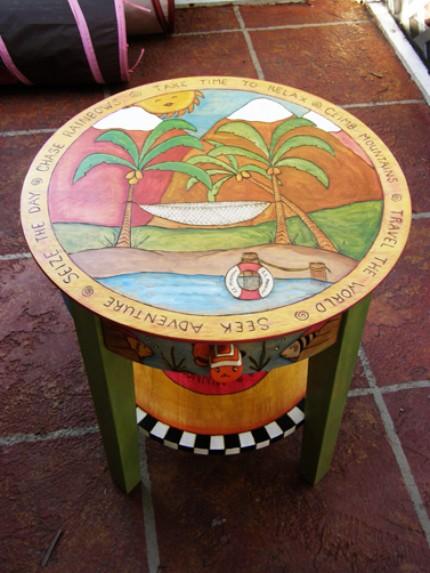 Декор столика своими руками фото