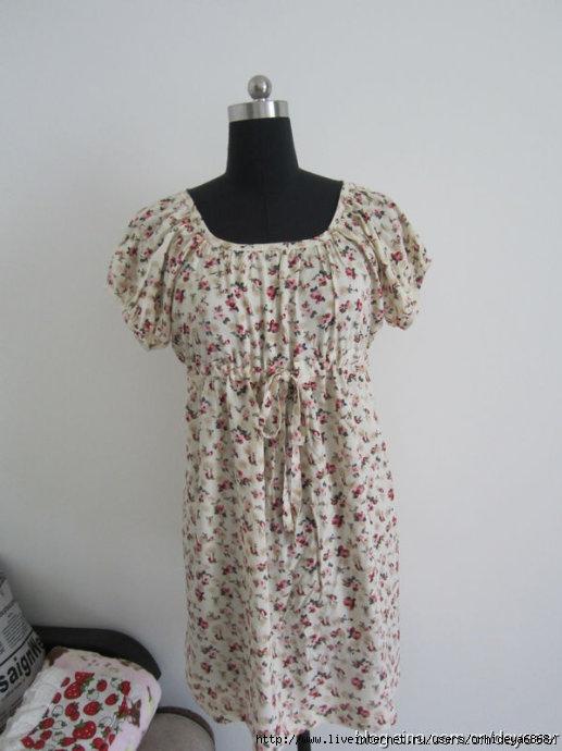 Платье с завышенной талией на любую фигуру
