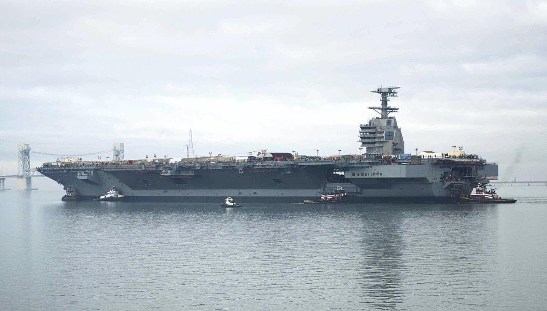 Американские СМИ рассказали о боевых возможностях авианосца Gerald Ford