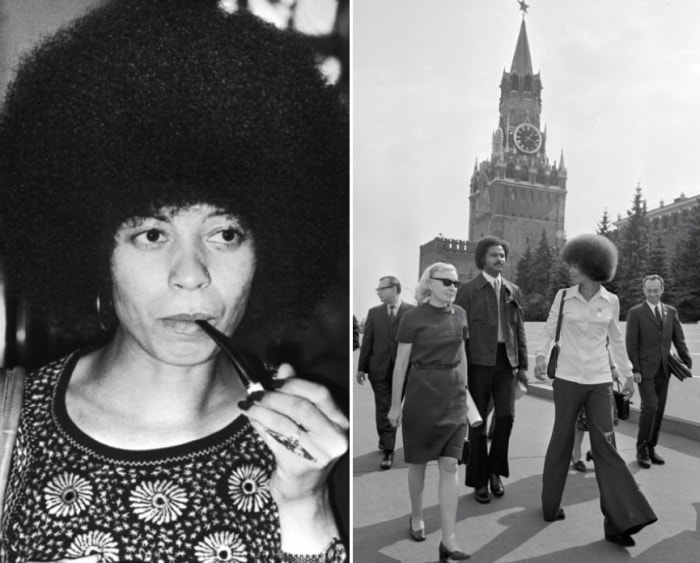Анджела Дэвис в СССР | Фото: april-knows.ru и tvc.ru