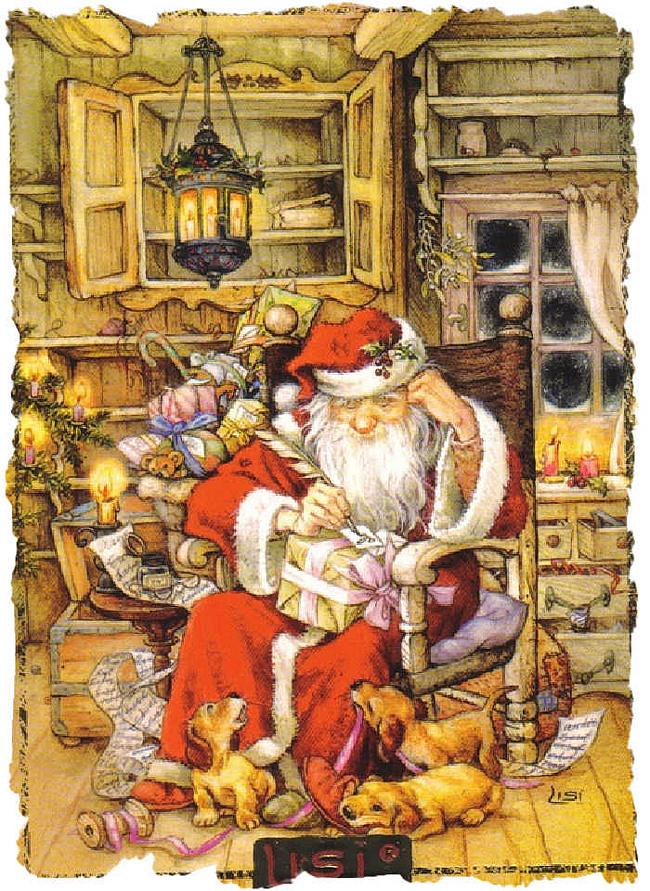 Новогодние и рождественские картины Lisi Martin