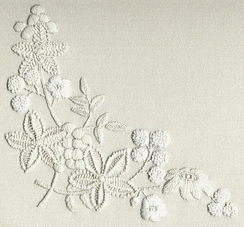 Узоры для вышивки белым по белому