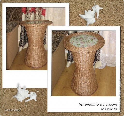 Мастер-класс Поделка изделие Рождество Плетение Чайный столик №2 Бумага газетная Трубочки бумажные фото 1
