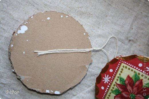 Мастер-класс Новый год Новогоднее украшение Картон фото 8