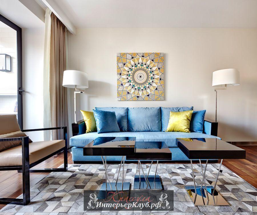 Современная элегантная роскошь в дизайне небольшой квартиры в Москве