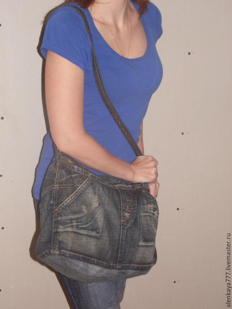 Шьем оригинальную сумку из юбки-денима