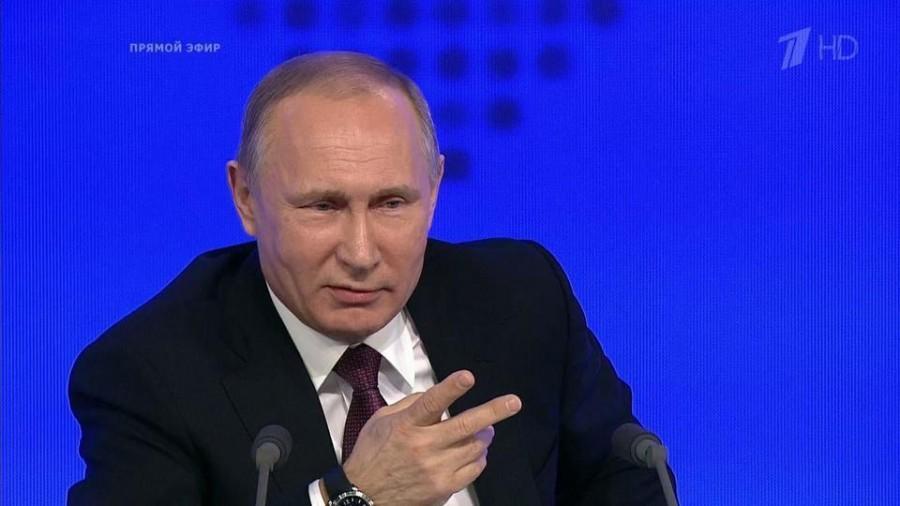 Путин на пресс-конференции выдал военную тайну России