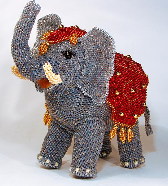 Как из бисера сделать слона