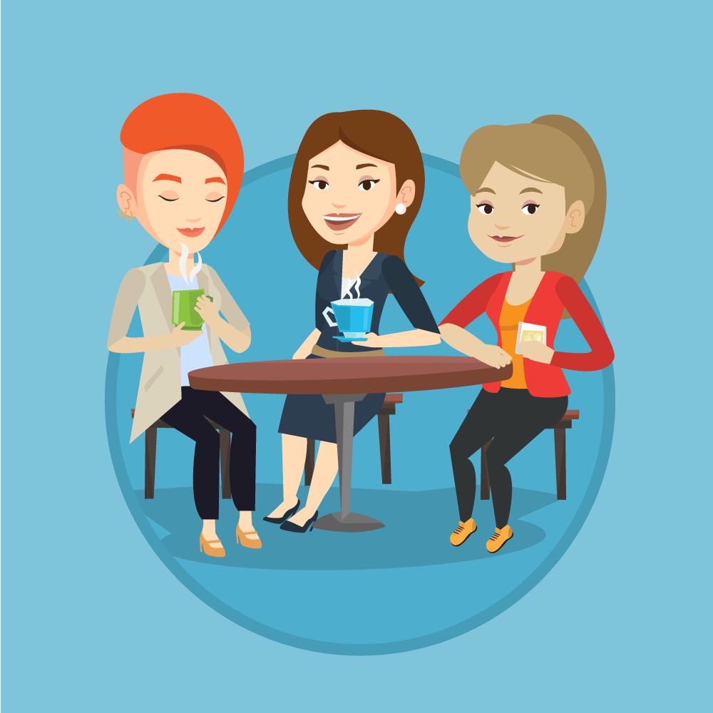 Анекдот про встречу трёх подружек-садисток