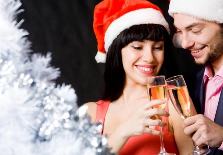 романтическое новогоднее фото