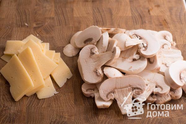 """Мясная """"Книжка"""" с грибами и сыром в духовке (Мясная """"Гармошка"""") фото к рецепту 3"""
