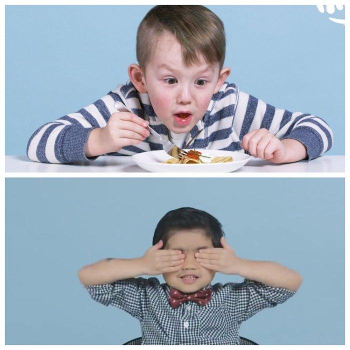 Американским детям предложили русскую еду: видео