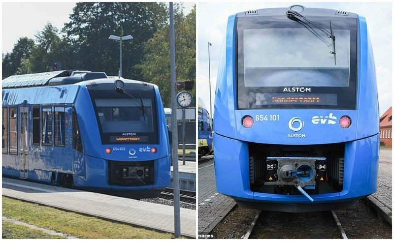 В Германии запустили первый в мире поезд на водороде (7 фото + 1 видео)