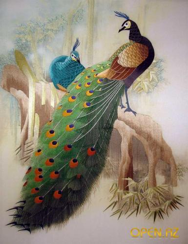 Жемчужина восточных искусств - картины, вышитые шелком по шелку