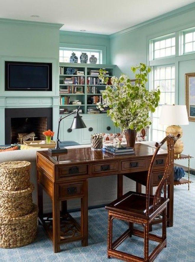 Деревенский стиль для самого современного домашнего офиса