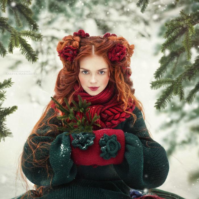 Рыжеволосая красавица. Автор: Маргарита Карева.