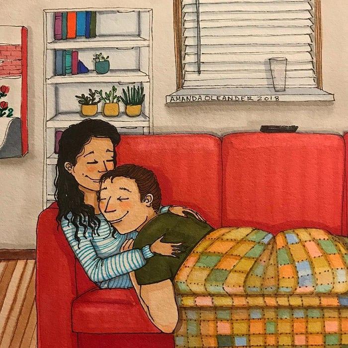 Как выглядит любовь, когда никто не видит — в честных иллюстрациях