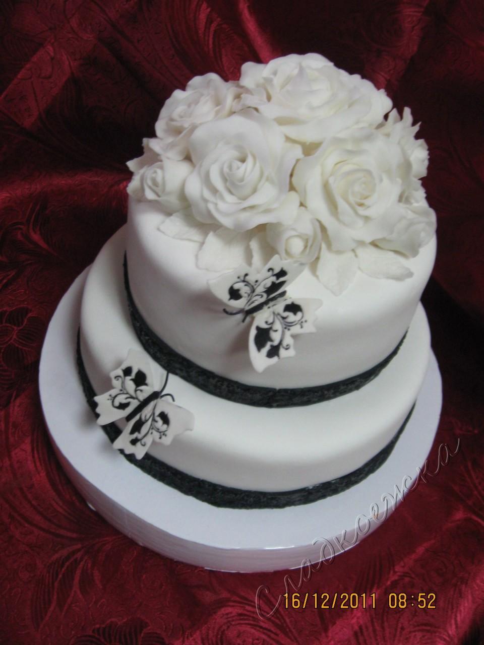 Торт на годовщину свадьбы украшение