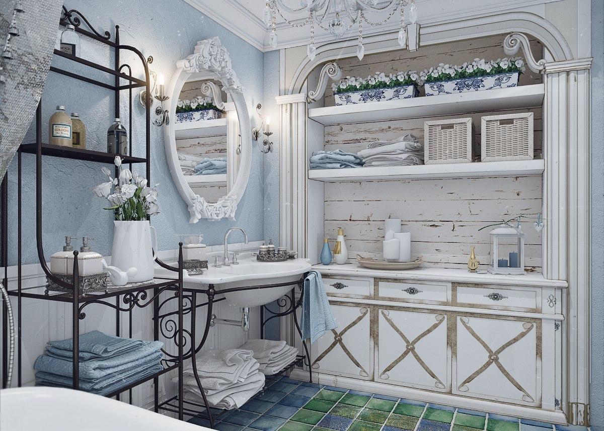 Ванная комната в стиле шебби-шик: изысканность и индивидуальность