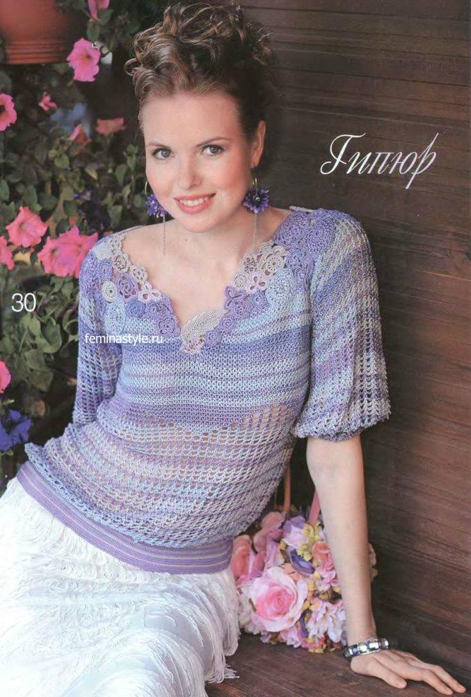 Блузка в пастельных тонах от Флоры Мази