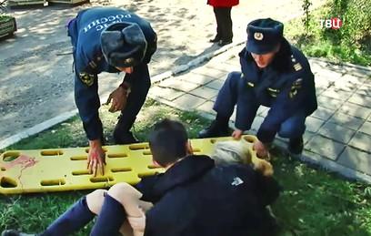 Появилось новое видео с места взрыва в Керчи
