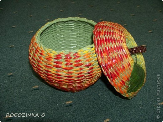 Мастер-класс Плетение: МК ЯБЛОКО Бумага. Фото 22