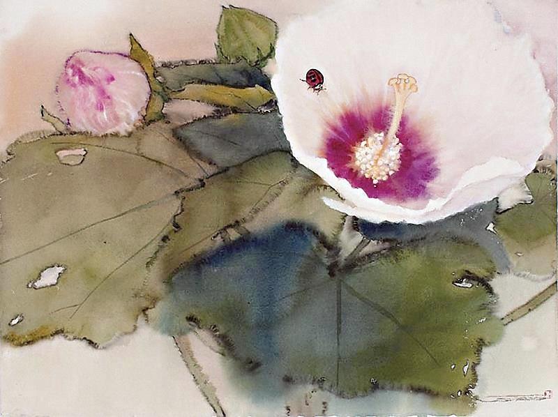 Как неповторим этот миг в году… Тайваньский художник Lin Shun-Shiung