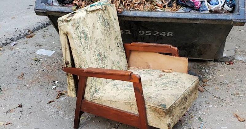 Стильная переделка кресла, которое забрала с мусорки