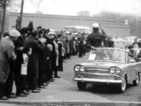 Парад самодельных автомобилей. Москва 1966 год