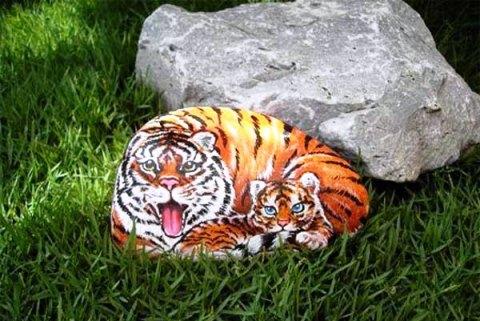 Роспись камней для сада