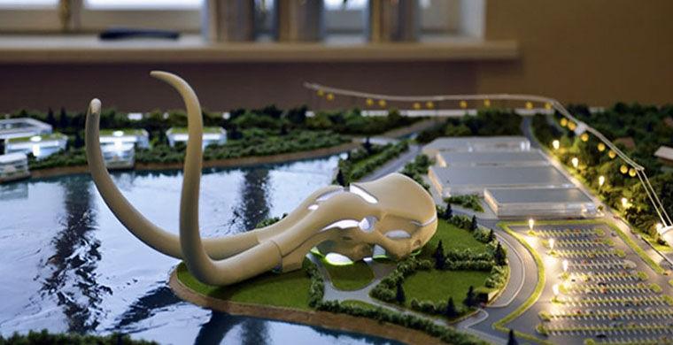 На берегу Байкала построят отель в виде черепа мамонта
