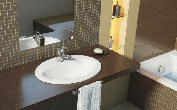 Высота раковины в ванной ком…