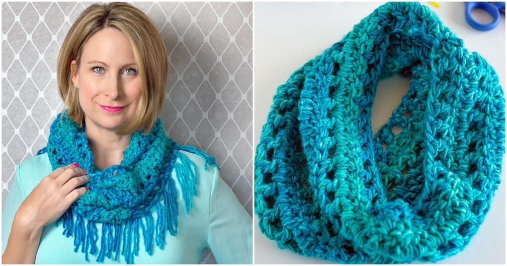 Теплый и уютный шарф-капюшон за 4 часа