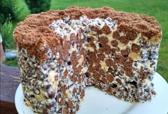 Торт из шоколадных шариков за 10 минут!