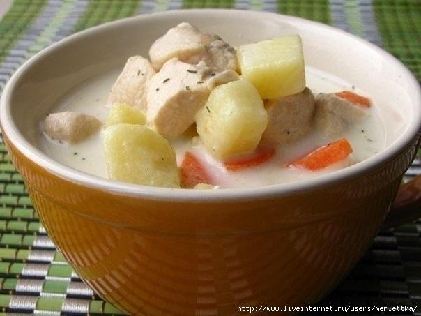 ДЕНЬ ПЕРВОГО БЛЮДА. Сырный суп с курицей