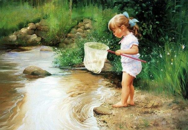 Тёплые моменты детства в полотнах белорусского художника Владислава Леоновича