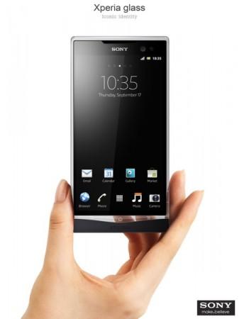 Стеклянный смартфон Sony