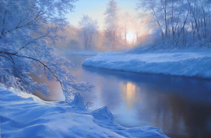 Зимние пейзажи Евгения Карловича