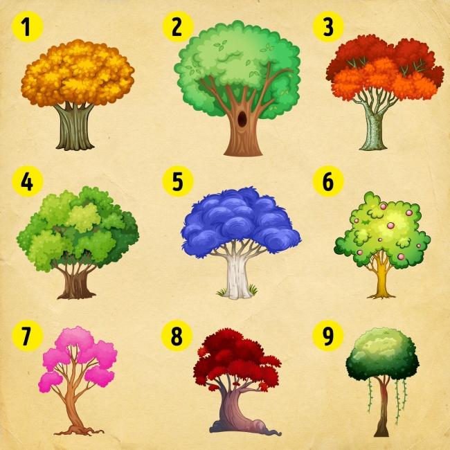 Выберите дерево, чтобы узнать, какие перемены ожидают вас в новом году