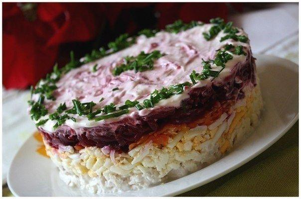 Любимый салат моего мужа — Слоеный салат «Мой генерал»