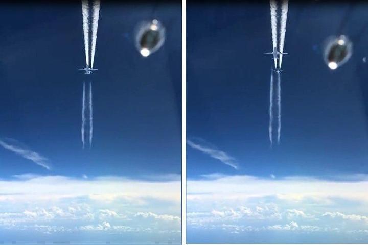 В Интернете опубликовано видео двух пассажирских самолетов, чуть не столкнувшихся в небе