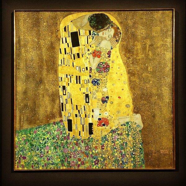 Густав Климт. «Поцелуй». 1907-8. Галерея Бельведер, Вена