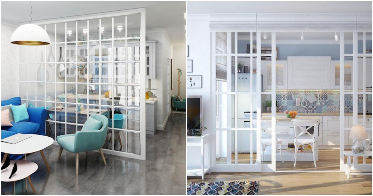 Воздушная стеклянная перегородка — 20 примеров для вашего вдохновения