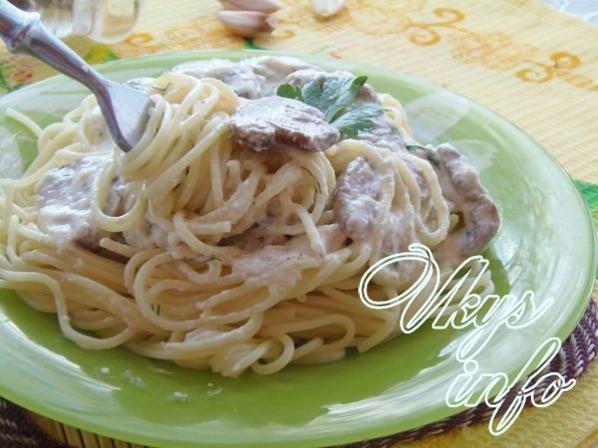 соус из белых грибов со сливками для спагетти